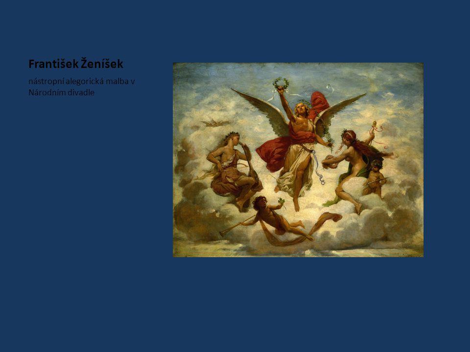 František Ženíšek nástropní alegorická malba v Národním divadle
