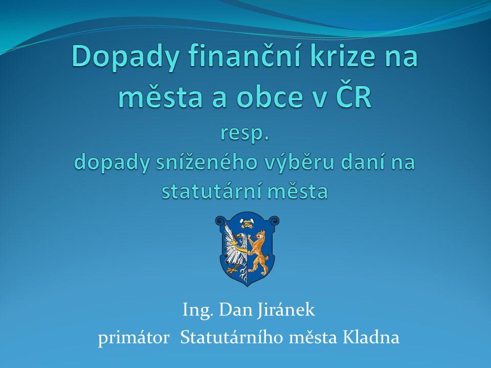 Ing. Dan Jiránek primátor Statutárního města Kladna