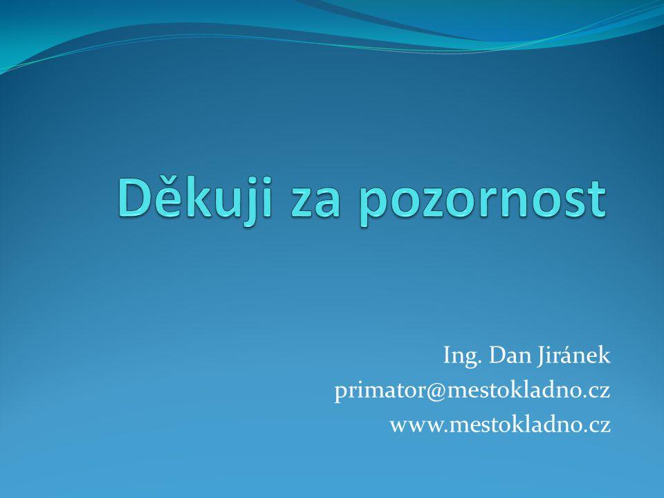 Ing. Dan Jiránek primator@mestokladno.cz www.mestokladno.cz