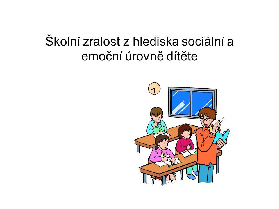Sociální zralost - Socializace – Sociální role – Interakce - Komunikace •Sociální zralost obecně je schopnost člověka zapojit se do běžného chodu společnosti a fungovat v ní na základě jejích pravidel a norem – tedy vytvořit si a přijmout sociální roli v procesu socializace.