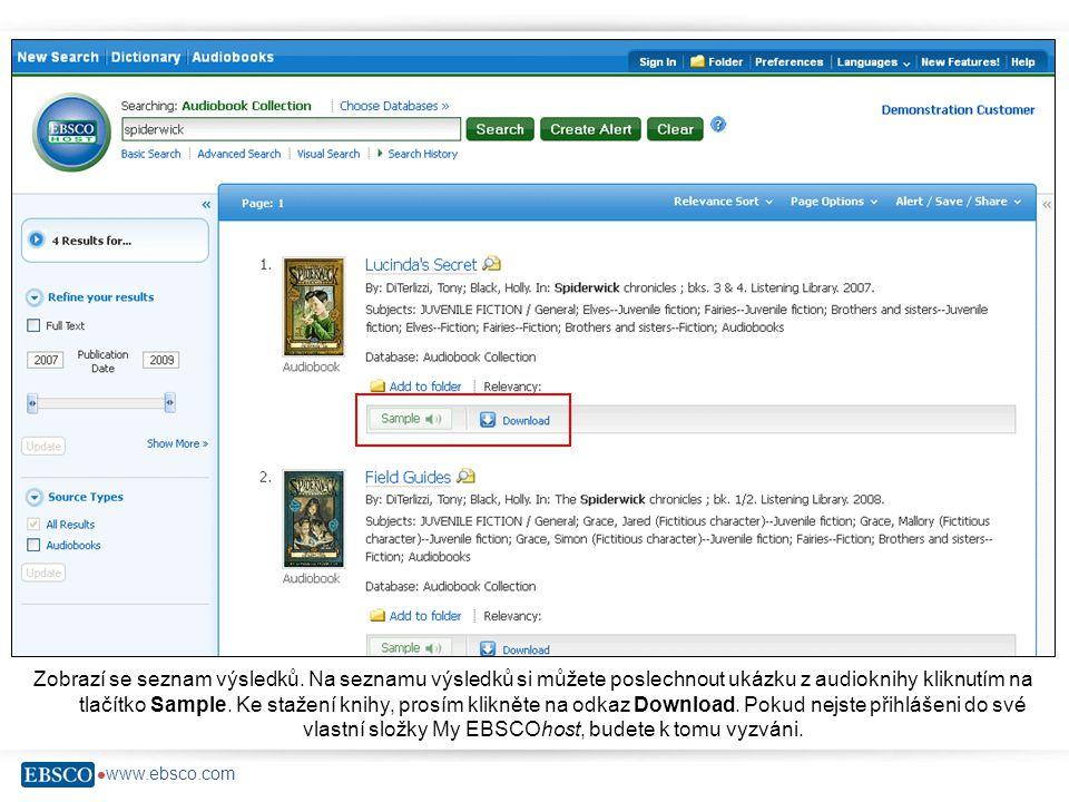  www.ebsco.com Zobrazí se seznam výsledků.