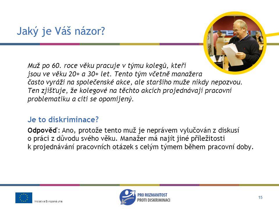 Iniciativa Evropské unie 15 Jaký je Váš názor.Muž po 60.