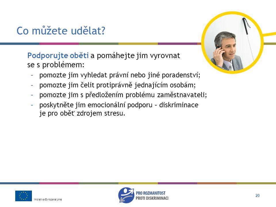 Iniciativa Evropské unie 20 Co můžete udělat.