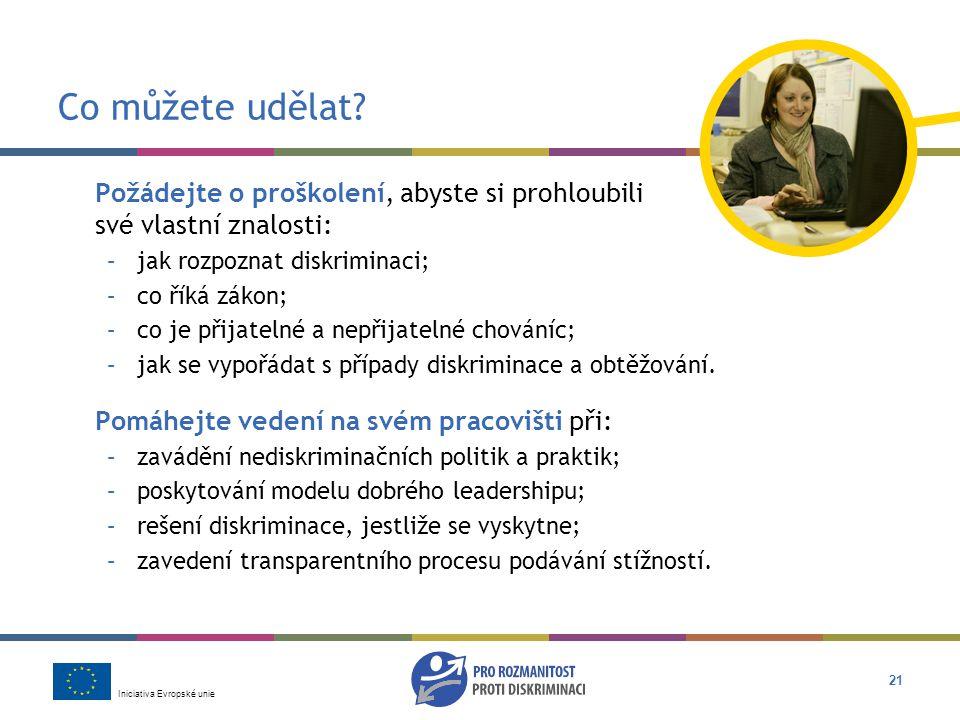 Iniciativa Evropské unie 21 Co můžete udělat.