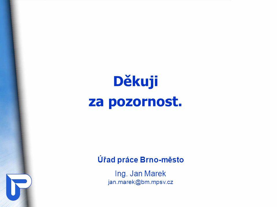 Děkuji za pozornost. Úřad práce Brno-město Ing. Jan Marek jan.marek@bm.mpsv.cz
