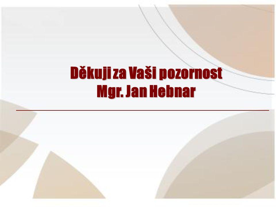 Děkuji za Vaši pozornost Mgr. Jan Hebnar