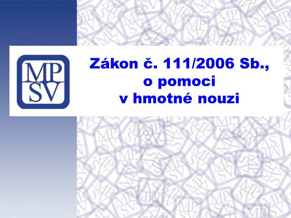 Zákon č. 111/2006 Sb., o pomoci v hmotné nouzi