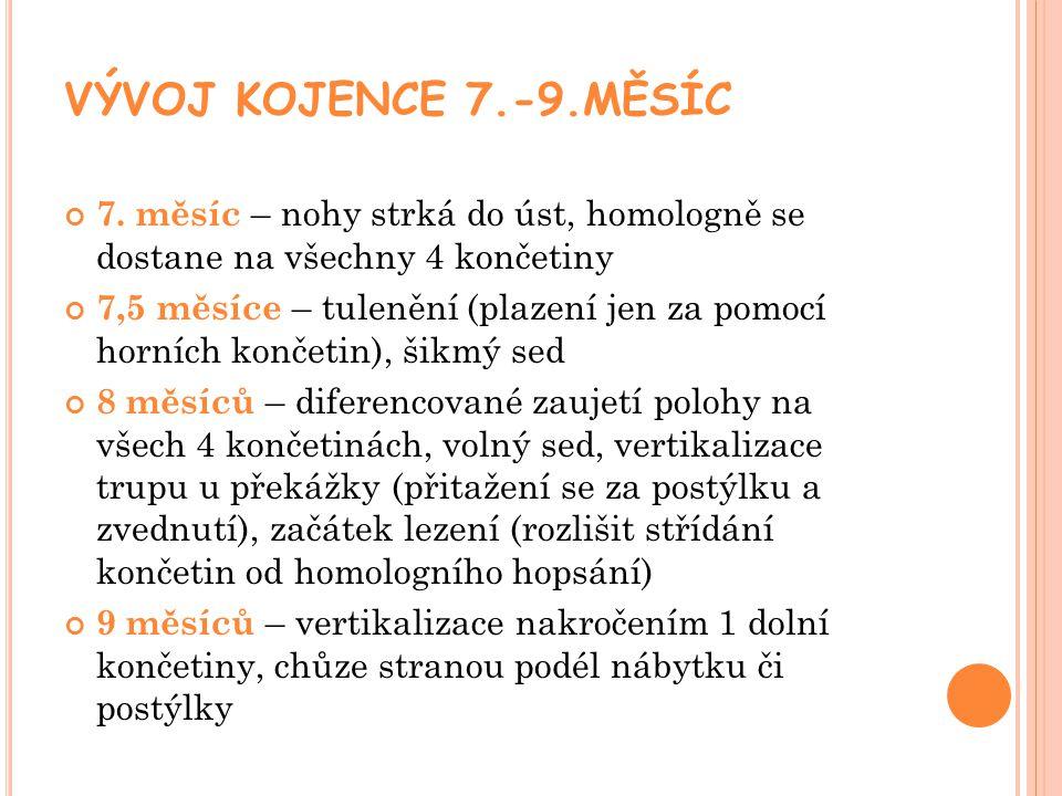 VÝVOJ KOJENCE 7.-9.MĚSÍC 7.