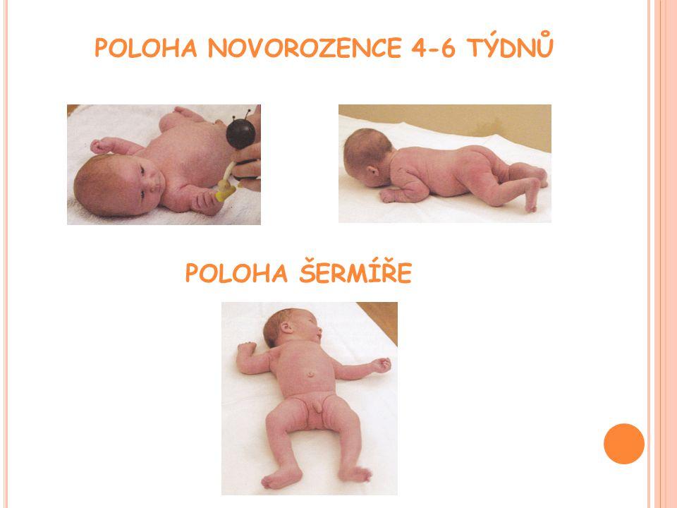 POLOHA ŠERMÍŘE POLOHA NOVOROZENCE 4-6 TÝDNŮ