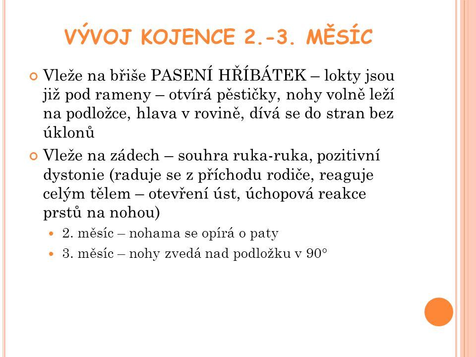 P OLOHA KOJENCE 10.-12.MĚSÍC Chůze u nábytku -10.-11.m Bipedální chůze – 11.-12m.