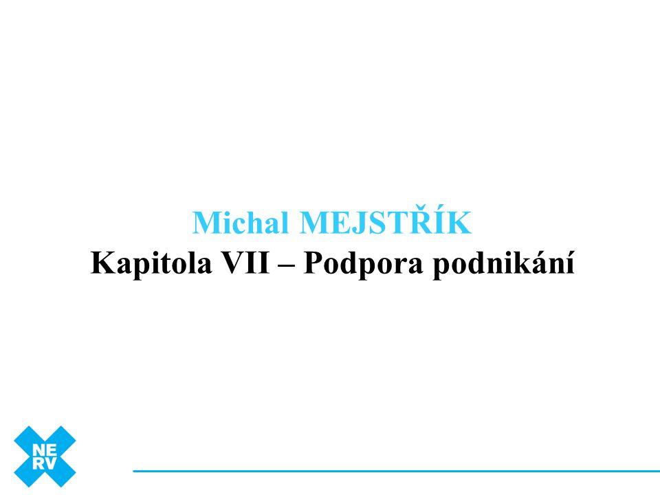 Michal MEJSTŘÍK Kapitola VII – Podpora podnikání