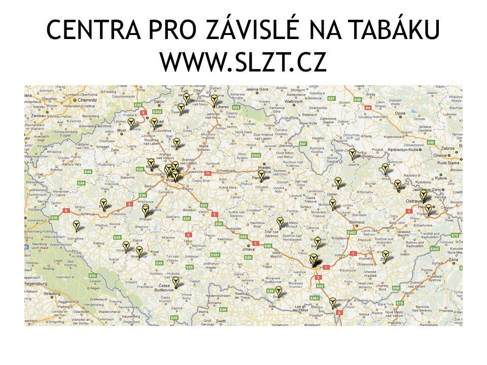 CENTRA PRO ZÁVISLÉ NA TABÁKU WWW.SLZT.CZ