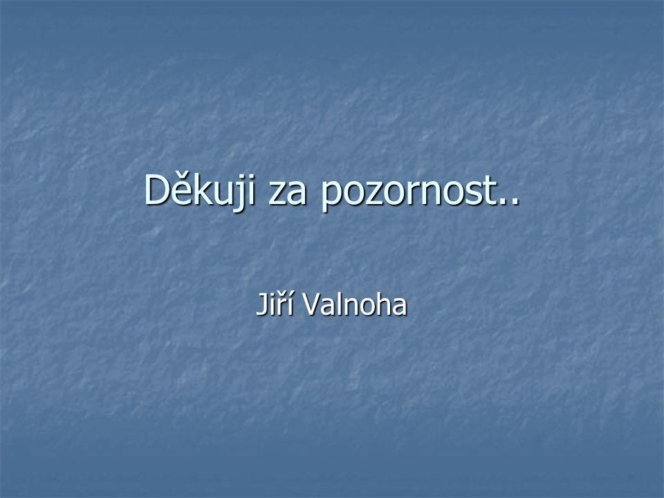 Děkuji za pozornost.. Jiří Valnoha