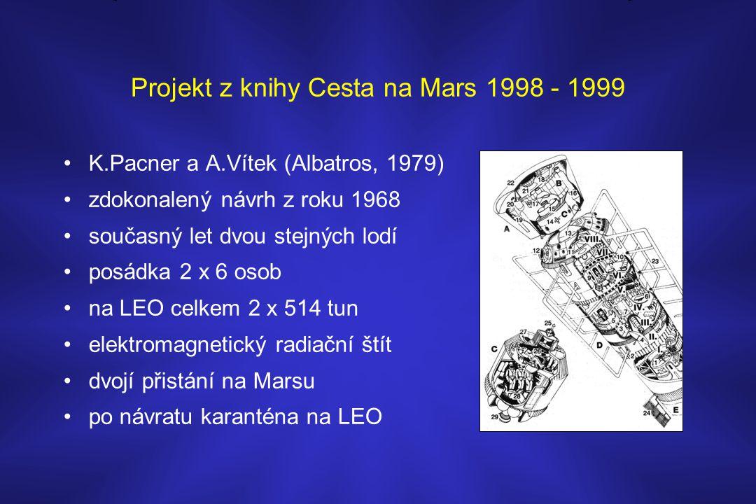 Projekt z knihy Cesta na Mars 1998 - 1999 •K.Pacner a A.Vítek (Albatros, 1979) •zdokonalený návrh z roku 1968 •současný let dvou stejných lodí •posádk