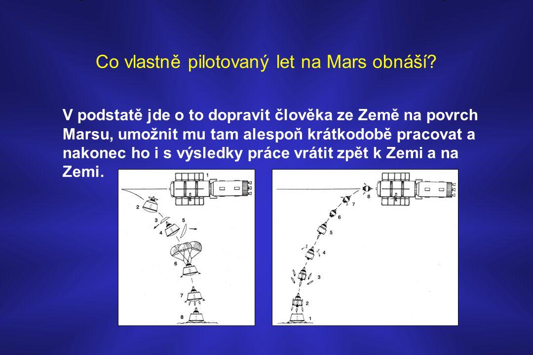 Co vlastně pilotovaný let na Mars obnáší? V podstatě jde o to dopravit člověka ze Země na povrch Marsu, umožnit mu tam alespoň krátkodobě pracovat a n