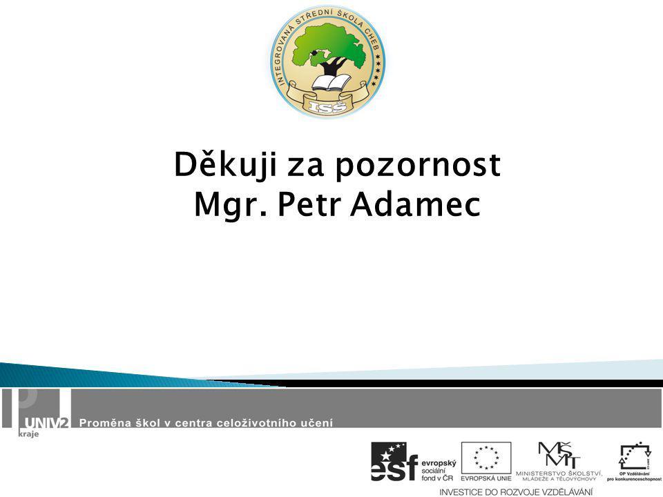 Děkuji za pozornost Mgr. Petr Adamec