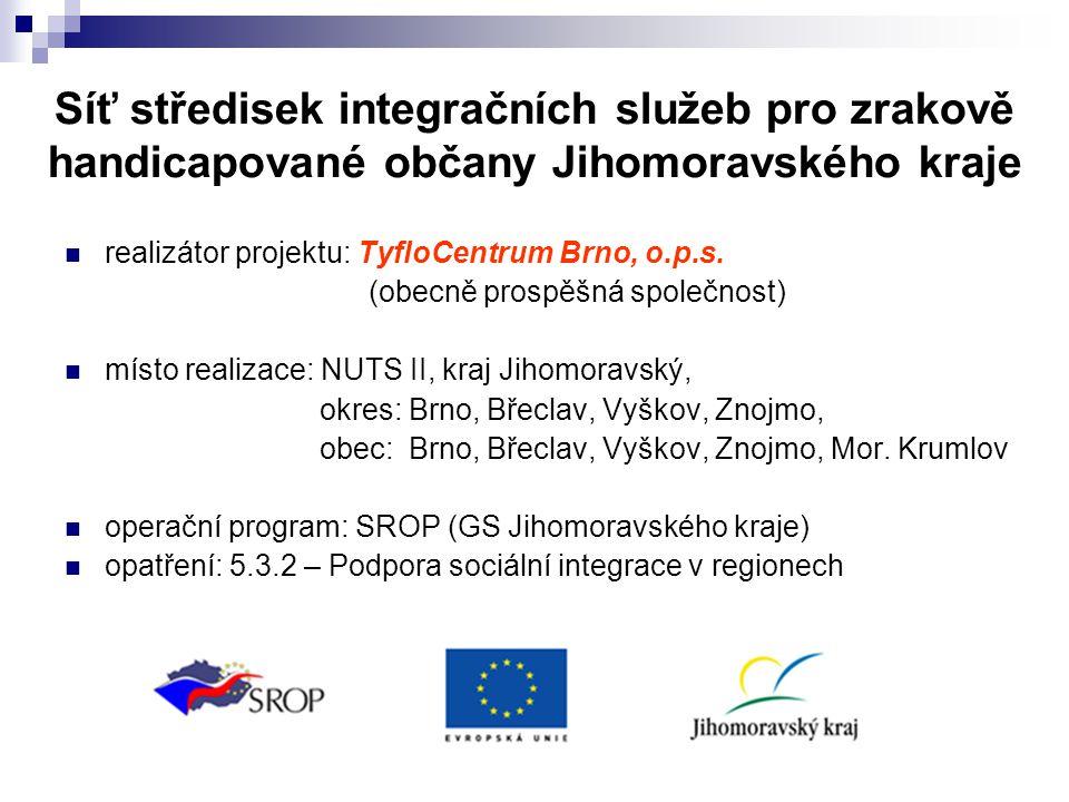 realizátor projektu: TyfloCentrum Brno, o.p.s.