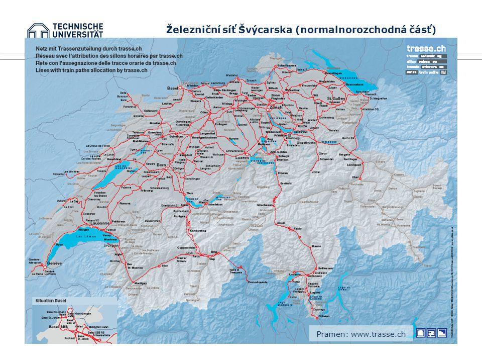 TU Dresden, 18.června 2008 Integrace vysokorychlostní železniční dopravy do komplexního dopravního systému (na příkladu Švýcarska) 3.