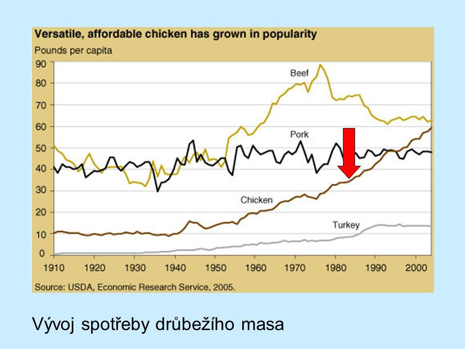 Vývoj spotřeby drůbežího masa