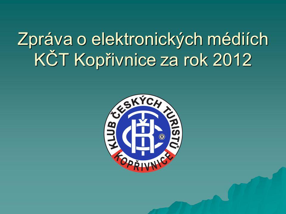 Zpráva o elektronických médiích KČT Kopřivnice za rok 2012