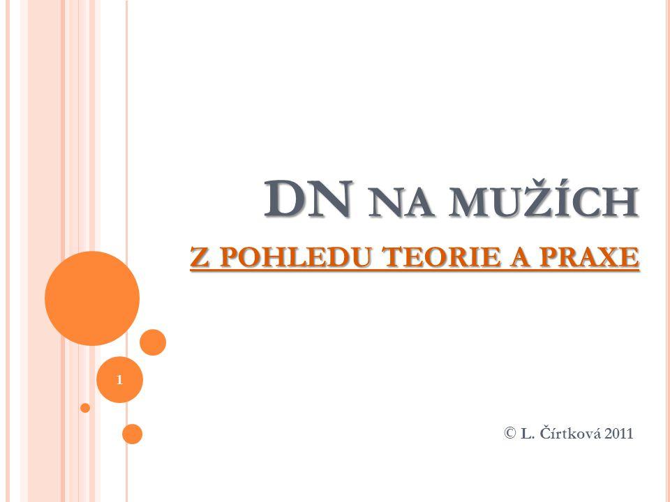 DN NA MUŽÍCH Z POHLEDU TEORIE A PRAXE © L. Čírtková 2011 1