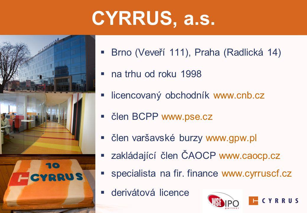 Corporate Finance  poradíme, jak efektivně řídit podnikové finance  oceníme Vaši společnost pro účely dalšího rozvoje či prodeje  zrealizujeme pro Vás akvizici jiné společnosti  zajistíme navýšení podílu ve společnosti  vyhledáme strategického či finančního partnera pro Vaše podnikání  přivedeme Vaši společnost na burzu  polský trh NewConnect  Burza cenných papírů v Praze