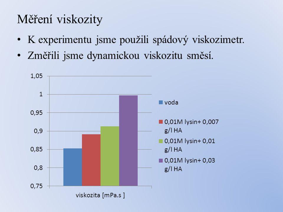 Měření viskozity • K experimentu jsme použili spádový viskozimetr.