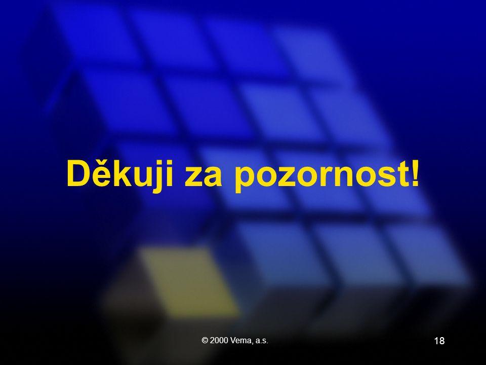 © 2000 Vema, a.s. 18 Děkuji za pozornost!