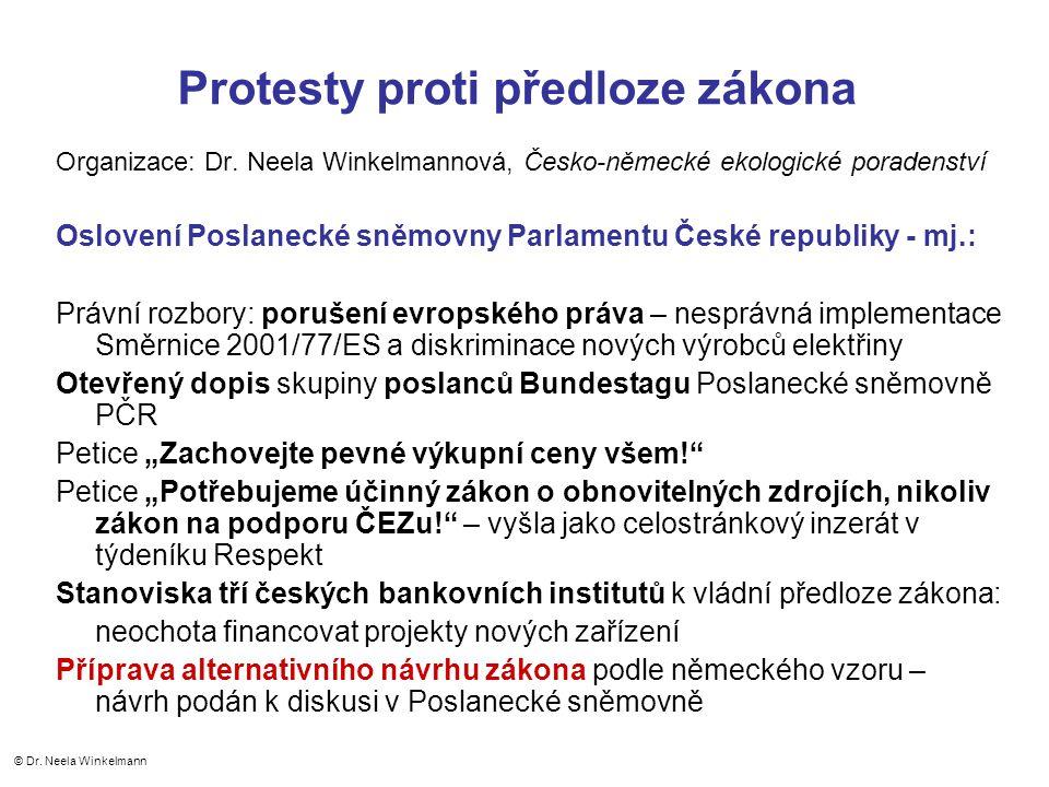 Protesty proti předloze zákona Organizace: Dr.