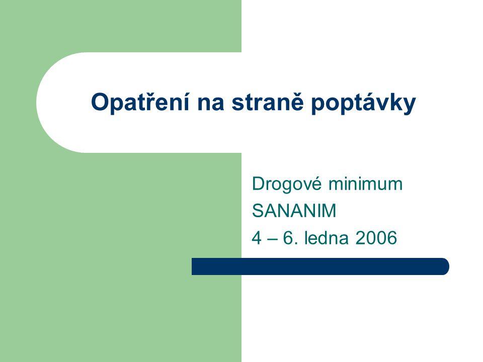 Opatření na straně poptávky Drogové minimum SANANIM 4 – 6. ledna 2006