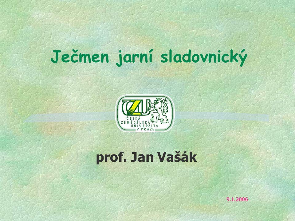 Ječmen jarní sladovnický prof. Jan Vašák 9.1.2006