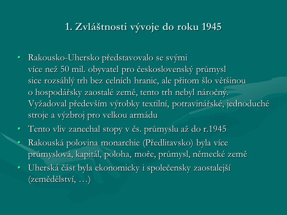 1.Zvláštnosti vývoje do roku 1945 •Rakousko-Uhersko představovalo se svými více než 50 mil.