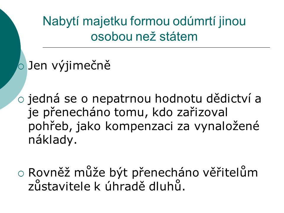 Základ daně Cena majetku nabytého dědicem (cena dědického podílu) Dle zákona o oceňování majetku – č.