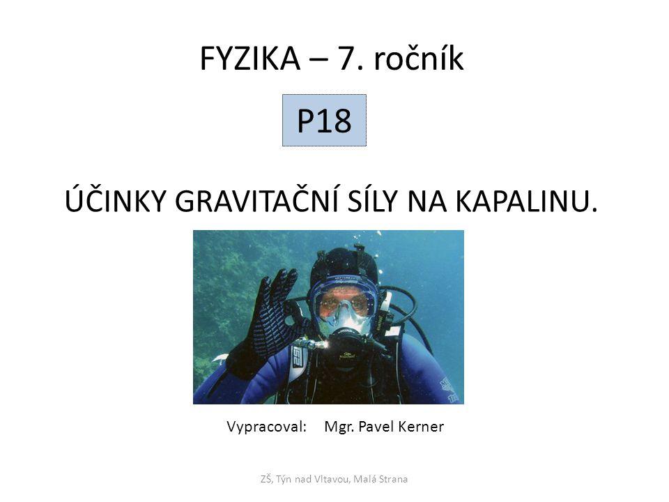 Hydrostatická tlaková síla, hydrostatický tlak.