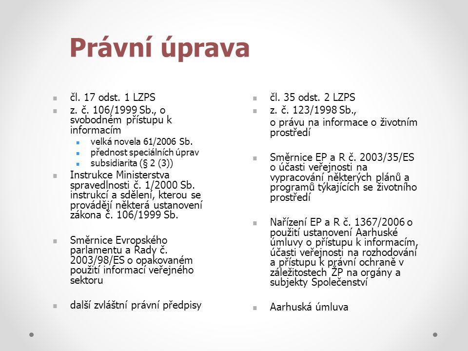 Právní úprava  čl.17 odst. 1 LZPS  z. č.