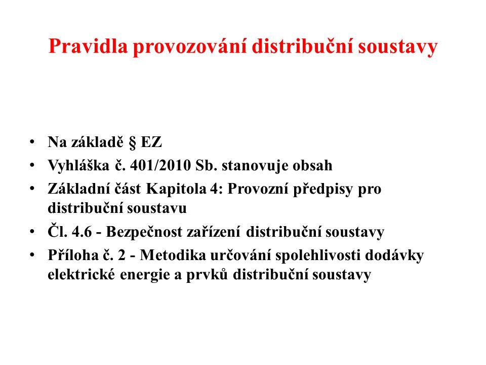 Pravidla provozování distribuční soustavy • Na základě § EZ • Vyhláška č.