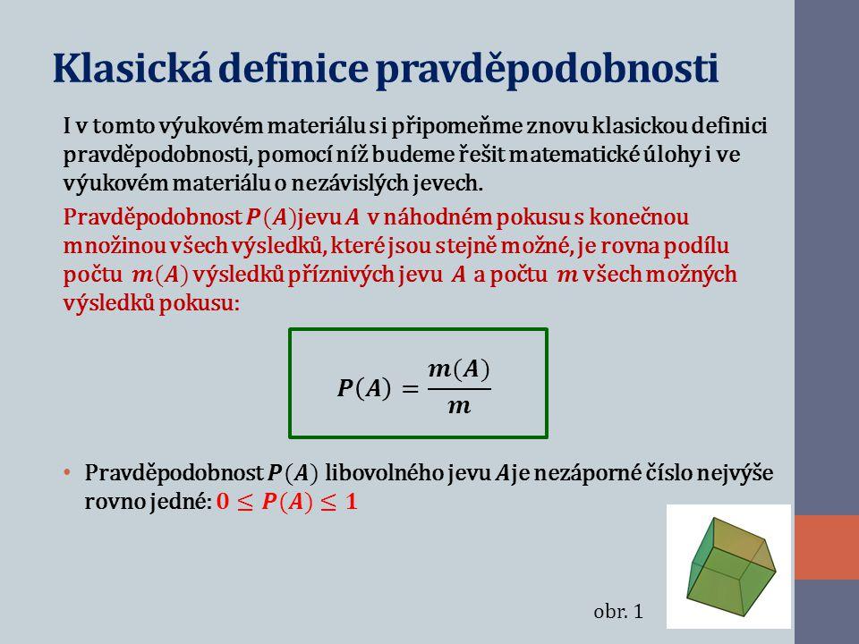 Klasická definice pravděpodobnosti obr. 1