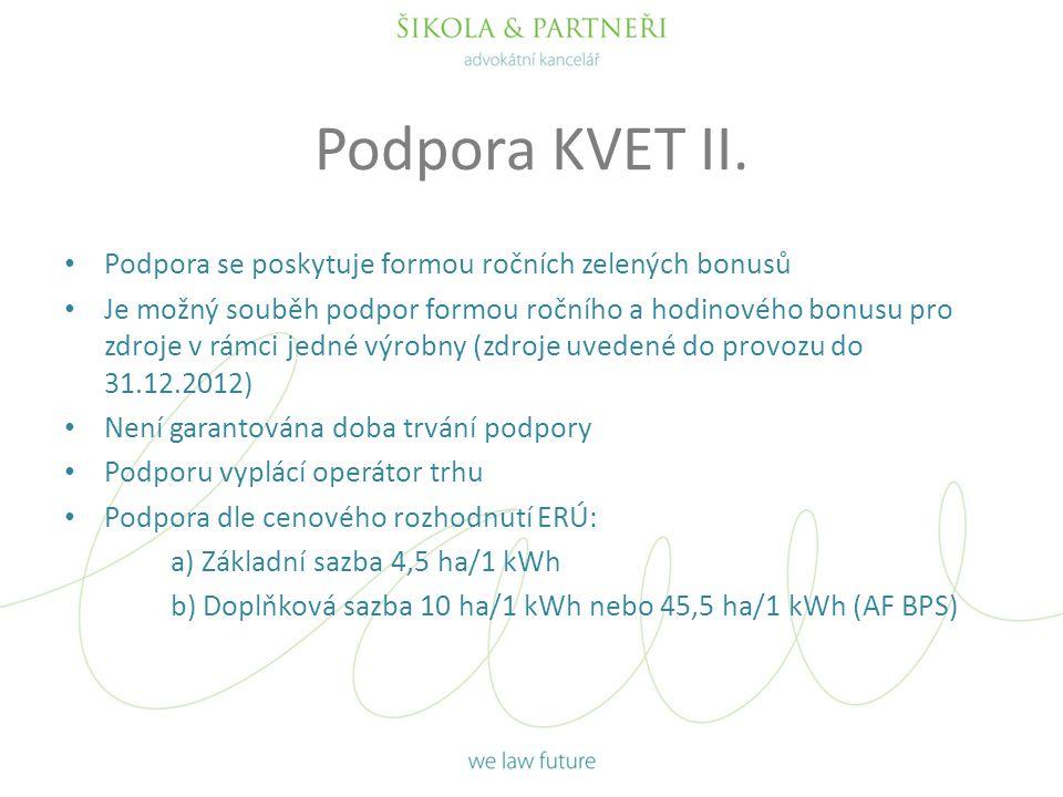 Podpora KVET II.
