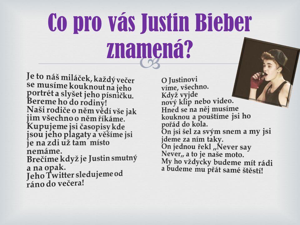  Proč chceme se setkat s Justinem Bieberem?