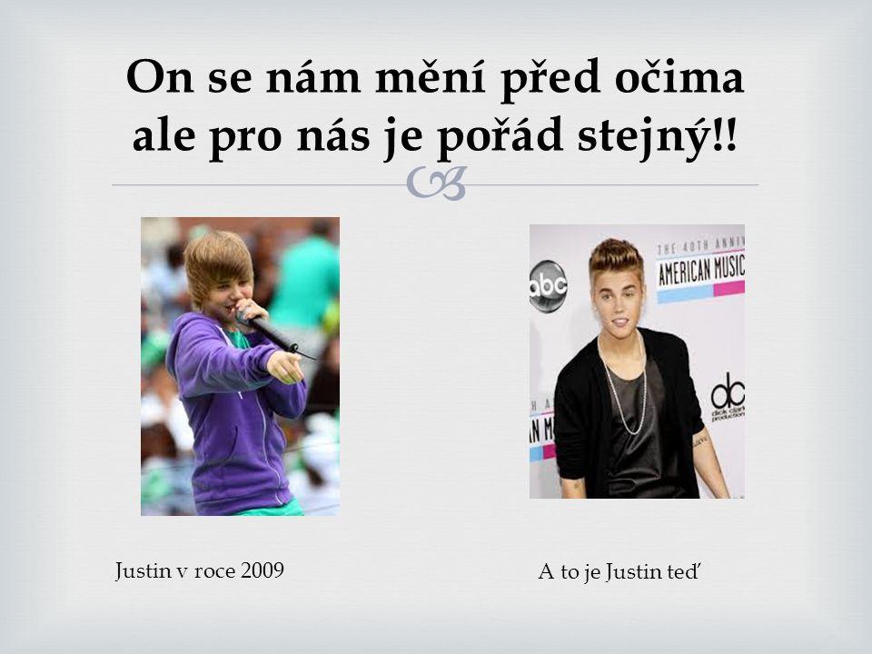  Co pro vás Justin Bieber znamená?