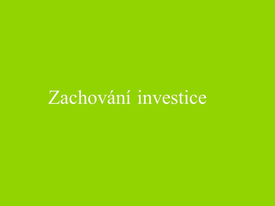 Zachování investice