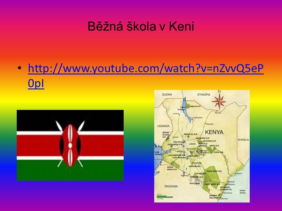 Běžná škola v Keni • http://www.youtube.com/watch?v=nZvvQ5eP 0pI http://www.youtube.com/watch?v=nZvvQ5eP 0pI
