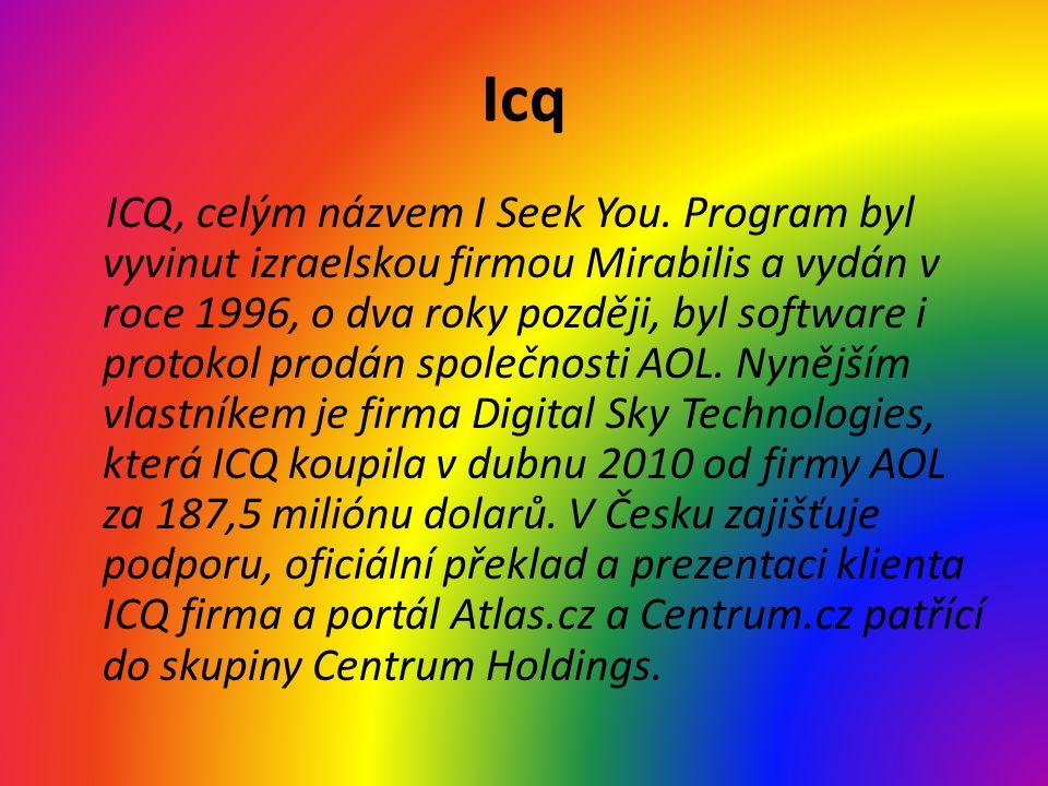 Icq ICQ, celým názvem I Seek You.