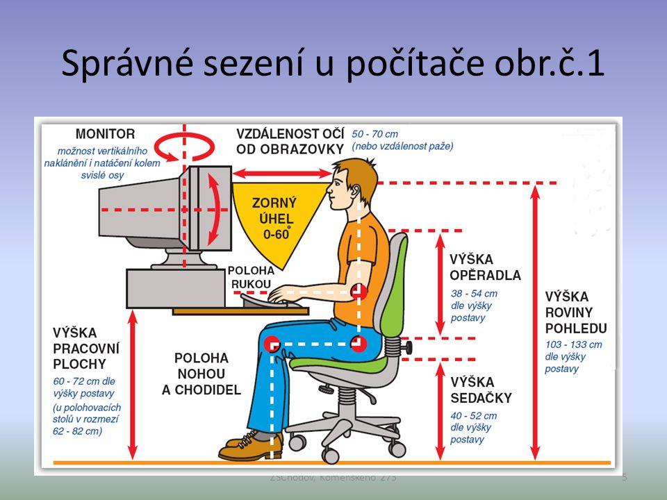 Správné sezení u počítače obr.č.1 ZŠChodov, Komenského 2735