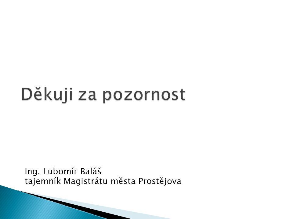 Ing. Lubomír Baláš tajemník Magistrátu města Prostějova