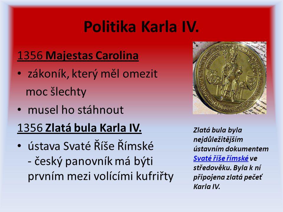 Politika Karla IV.