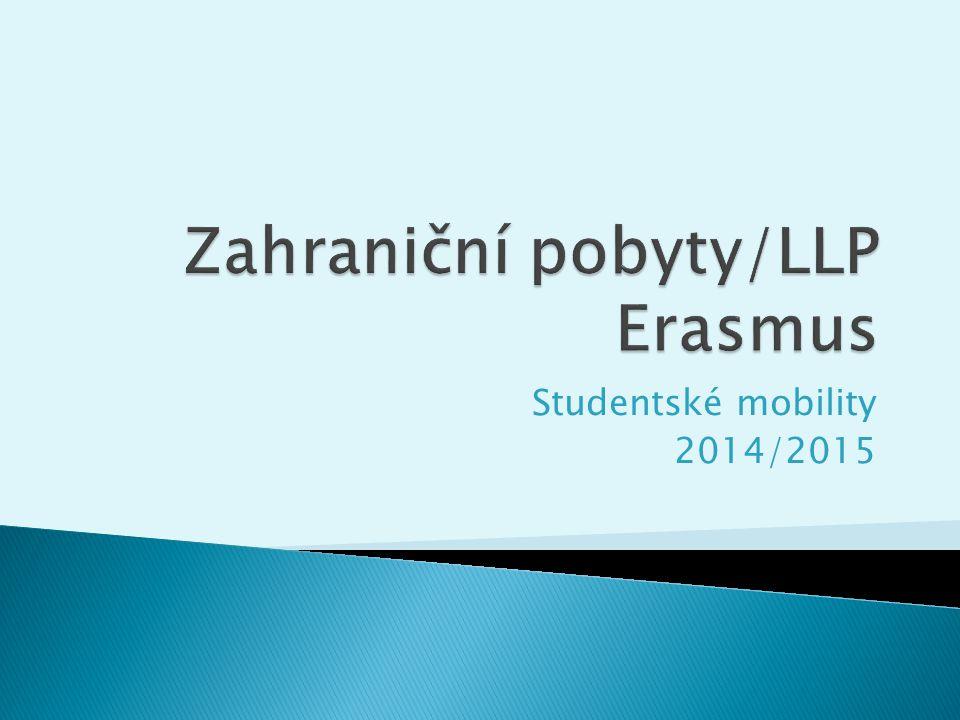 Studentské mobility 2014/2015
