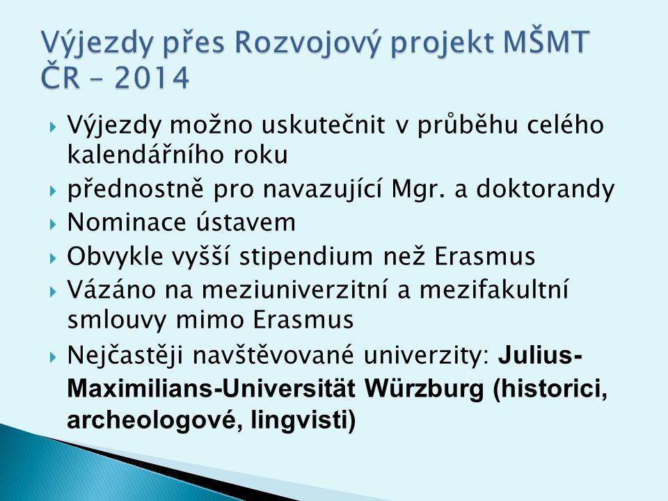  Uniwersytet Wrocławski (historici, archeologové)  Universita La Sapienza (italisté)  SISSA Trieste (fyzikové)  University of Oxford (fyzikové)