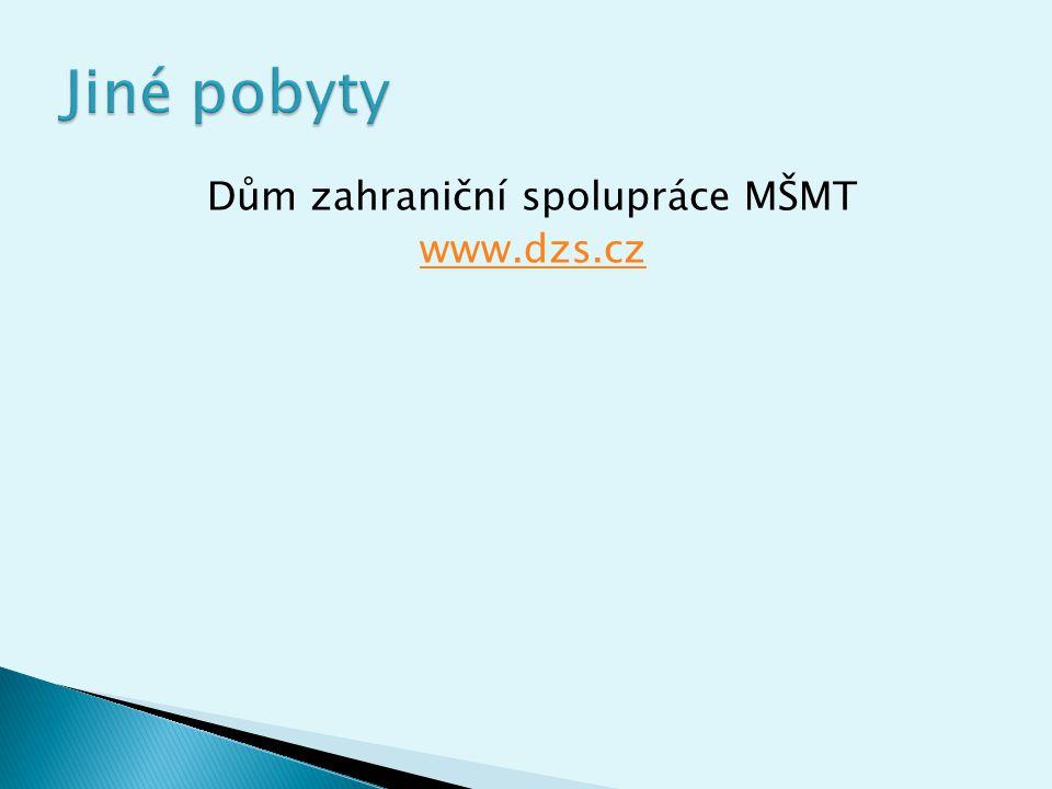 Dům zahraniční spolupráce MŠMT www.dzs.cz