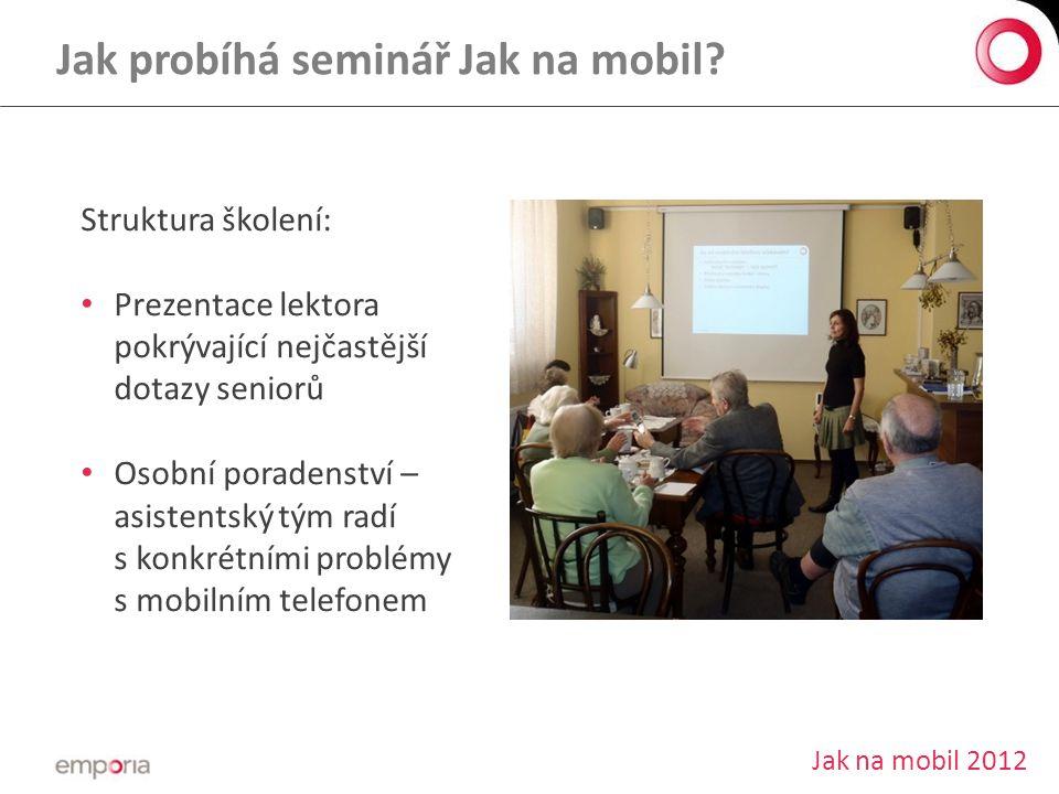 Jak probíhá seminář Jak na mobil.